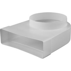 Колено соединитильное плоское-круглое Equation, 60х204 мм, D150 мм