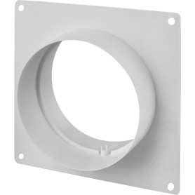 Пластина настенная с соединителем D125 мм