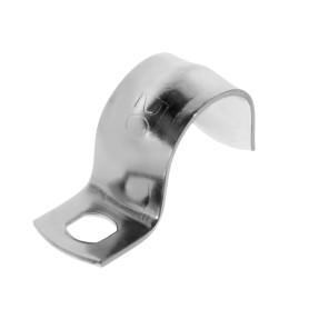 Скоба оцинкованная Экопласт с одним отверстием D20 мм, 5 шт.