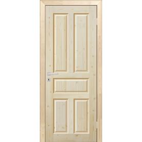 Дверь межкомнатная глухая Кантри 70x200 см, массив хвои, цвет натуральный