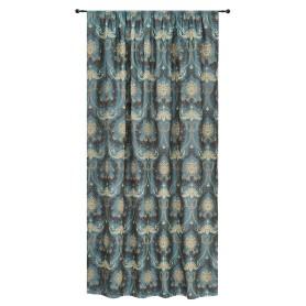 Штора на ленте «Веста» 160х260 см жаккард цвет бирюзовый