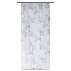 Тюль на ленте для кухни «Роза» 140х180 см цвет красный