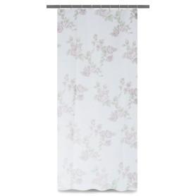 Тюль на ленте для кухни «Роза» 140х180 см цвет коричневый