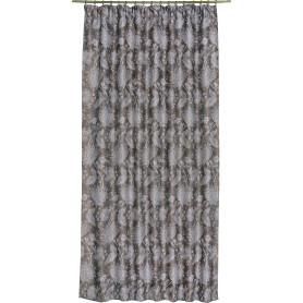 Штора на ленте «Королевский цветок» 160х260 см блэкаут цвет коричневый