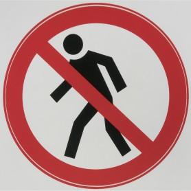 Наклейка «Проход запрещен» маленькая