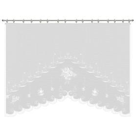 Занавеска для кухни на ленте «Утро», 220х160 см, сетка, цвет белый