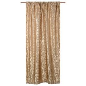 Штора на ленте «Восток» 160х260 см сатен/жаккард цвет коричневый
