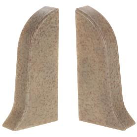 Заглушка для плинтуса левая и правая «Светлый мрамор» 47 мм 2 шт.