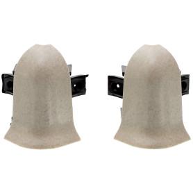 Угол для плинтуса внешний «Светлый Мрамор» 47 мм 2 шт.