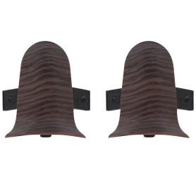 Угол для плинтуса внешний «Венге» 55 мм 2 шт.