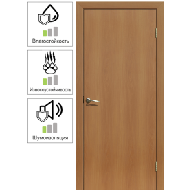 Дверь межкомнатная глухая 90x200 см, ламинация, цвет миланский орех