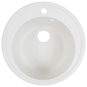 Мойка врезная Fosto КМД 51 см глубина 19 см, мрамор, цвет белый