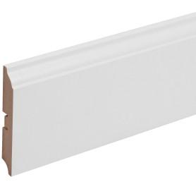 Плинтус напольный МДФ под покраску 105 мм 2.4 м цвет белый