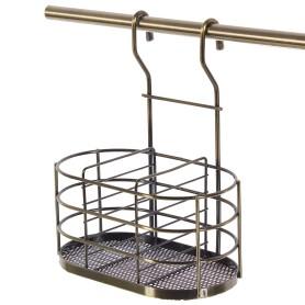 Держатель для столовых приборов 20x13x26 см, бронза