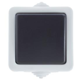 Выключатель накладной влагозащищенный LK Studio Aqua 1 клавиша IP54 цвет белый