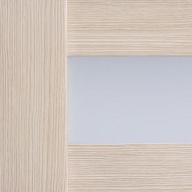 Дверь межкомнатная остеклённая Ницца 70x200 см, ПВХ, цвет кремовый, с фурнитурой
