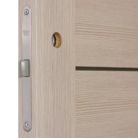 Дверь межкомнатная глухая Ницца 60x200 см, ПВХ, цвет кремовый, с фурнитурой