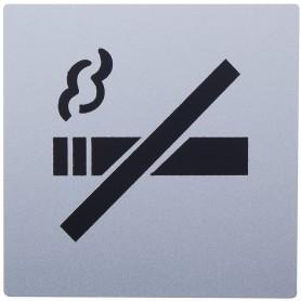 Знак дверной «Не курить» Larvij самоклеящийся цвет серебро