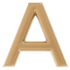 Буква «А» Larvij самоклеящаяся 40x32 мм пластик цвет матовое золото
