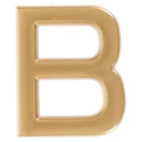 Буква «В» Larvij самоклеящаяся 40x32 мм пластик цвет матовое золото