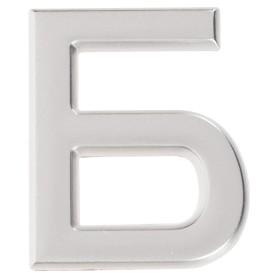 Буква «Б» Larvij самоклеящаяся 40x32 мм пластик цвет матовый хром