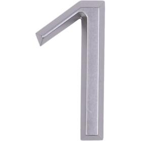 Цифра «1» Larvij самоклеящаяся 60х37 мм пластик цвет матовый хром