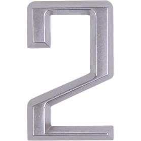 Цифра «2» Larvij самоклеящаяся 60х37 мм пластик цвет матовый хром