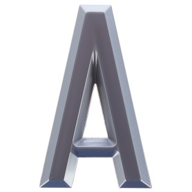Буква «А» Larvij самоклеящаяся 60x37 мм пластик цвет матовый хром