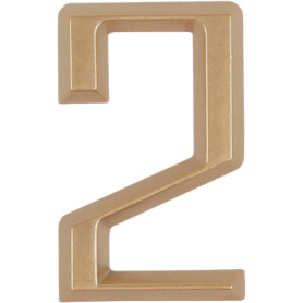 Цифра «2» Larvij самоклеящаяся 60х37 мм пластик цвет матовое золото