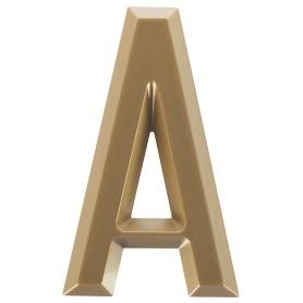 Буква «А» Larvij самоклеящаяся 60x37 мм пластик цвет матовое золото