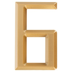 Буква «Б» Larvij самоклеящаяся 60x37 мм пластик цвет матовое золото