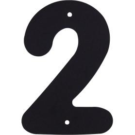 Цифра «2» Larvij большая цвет чёрный
