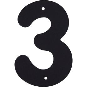 Цифра «3» Larvij большая цвет чёрный