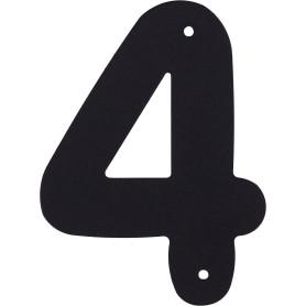 Цифра «4» Larvij большая цвет чёрный