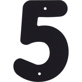 Цифра «5» Larvij большая цвет чёрный