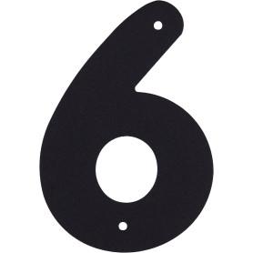 Цифра «6» Larvij большая цвет чёрный