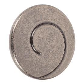Ручка-кнопка Kerron чёрный старинный цинк