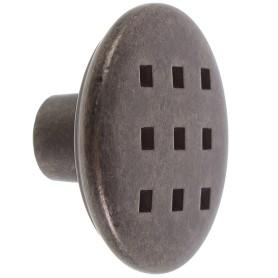 Ручка-кнопка Jet 149 сталь цвет античное серебро