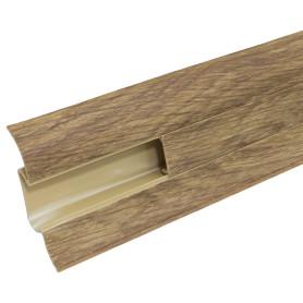 Плинтус напольный «Осина Европейская» ПВХ 55 мм 2.5 м цвет