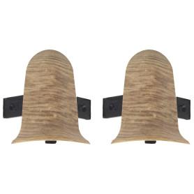 Угол для плинтуса внешний «Осина Европейская» 55 мм 2 шт.