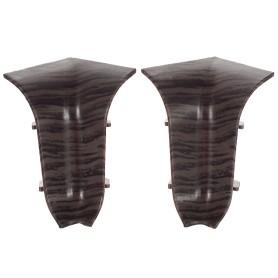 Угол для плинтуса внутренний «Дуб Палёный» 47 мм 2 шт.