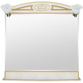 Зеркало «Луиза» 83 см цвет белое золото