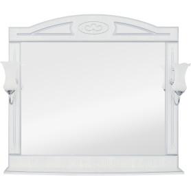 Зеркало «Луиза» 105 см цвет белое серебро