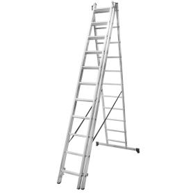 Лестница раскладная трёхсекционная Standers 11 ступеней