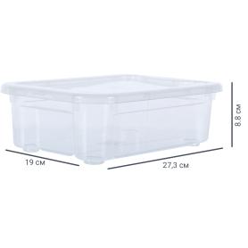 Ящик Кристалл 27.3x19x8.8 см, 2.8 л с крышкой