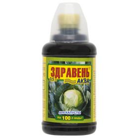 Удобрение «Здравень Аква» для капусты с мерным стаканчиком 0.5 л