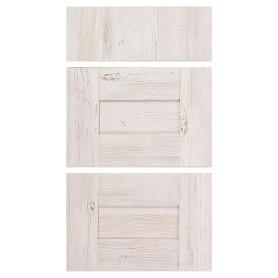 Двери для шкафа Delinia «Фрейм светлый» 40x70 см, ЛДСП, цвет белый, 3 шт.