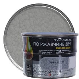 Грунт эмаль по ржавчине 3 в 1 молотковая Dali Special  цвет серебристый 2.5 кг