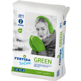 Противогололёдное средство Фертика Ice Care Green, 20 кг