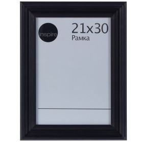 Рамка Inspire Liza 21х30 см цвет чёрный